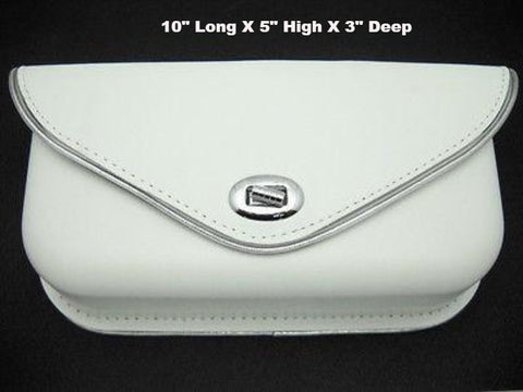 58275-63R PANHEAD SHOVELHEAD REPLICA WHITE WINDSHIELD BAG