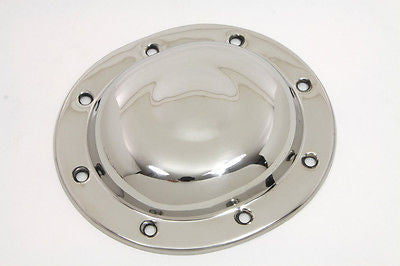 60555-36R STAINLESS KNUCKLEHEAD FLATHEAD PANHEAD DERBY COVER WITH CENTER DIMPLE