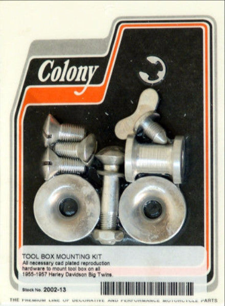 1955-1957 TOOL BOX MOUNT KIT CAD PLATED COLONY 2002-13