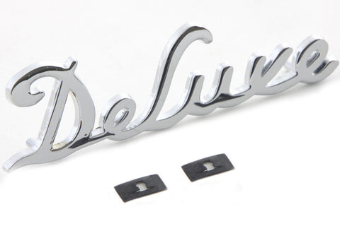 11530-46CHR Fender Trim Deluxe Emblem Chrome
