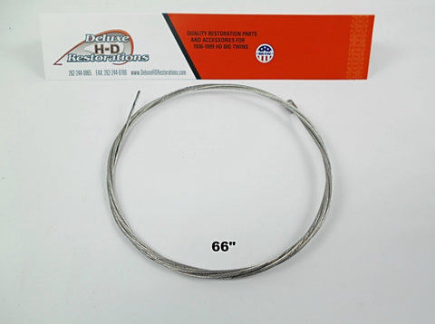 45153-28 Old 4145-28 Knucklehead, Panhead, Flathead, Spring Fork Inner Front Brake Cable