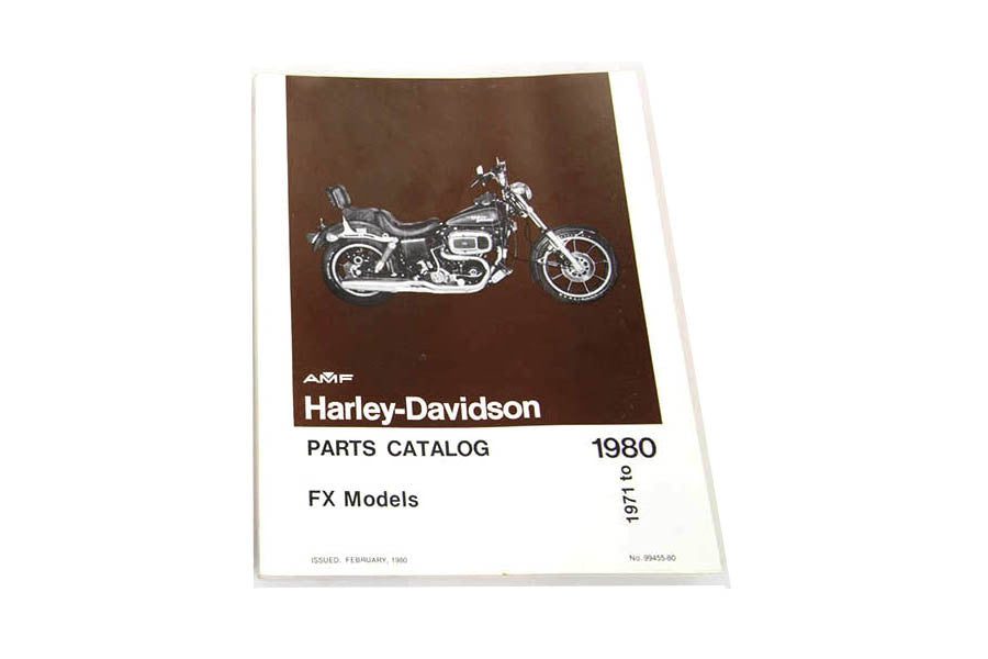 99455-78 Factory Spare Parts Book for 1970 to 1980 FX Models