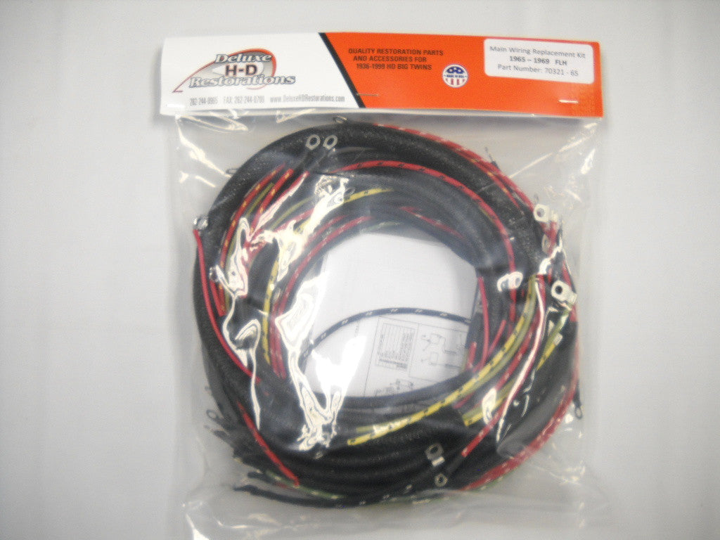70321-65 Panhead Shovelhead Complete Wire Harness USA Made