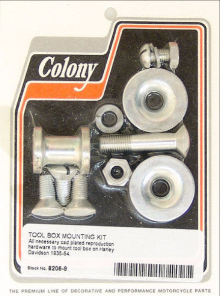1935-1954 TOOL BOX MOUNT KIT CAD PLATED COLONY 8206-9