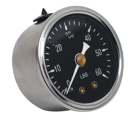 1936-1999 LIQUID FILLED BLACK FACE (60LB) OIL PRESSURE GAUGE