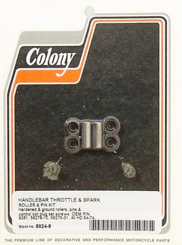 8924-8 Colony Handlebar Throttle And Spark Retard Roller And Pin Kit 1954-1974