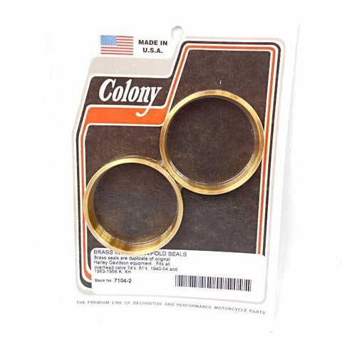 27059-40 OLD 1118-40 BRASS INTAKE SEAL KNUCKLEHEAD PANHEAD COLONY 7104-2