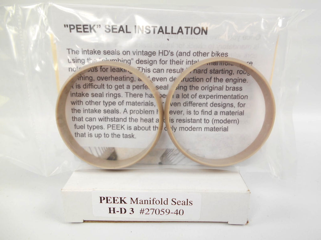 "27059-40 OLD 1118-40 'PEEK' Knucklehead Panhead 1-45/64"" ID Intake Seals"