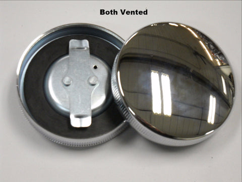 61103-36R KNUCKLEHEAD PANHEAD FLATHEAD CHROME GAS CAP SET