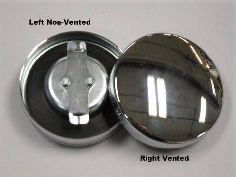 61103/61116-65R 1965-1972  PANHEAD SHOVELHEAD CHROME GAS CAP SET