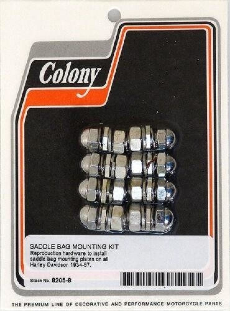 8205-8 Saddlebag To Fender 4-Hole Per Plate Mounting Kit