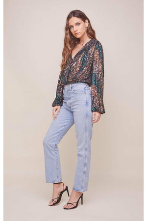 ASTR The Label Primadonna Top - Sequin Sunset