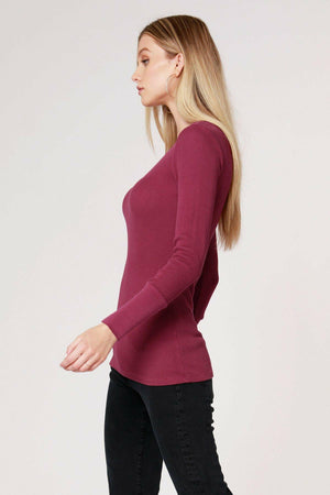 Bobi V Neck Thermal Long Sleeve Cuff