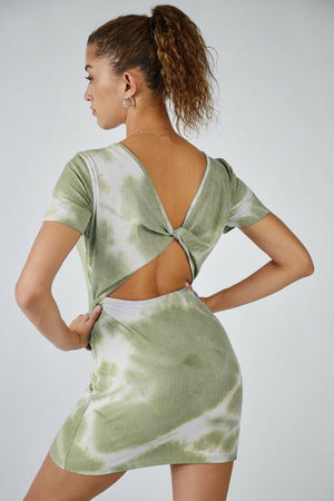 Sage The Label Emilia Twist Back Mini Dress