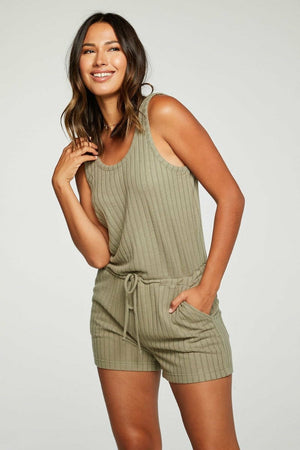 Chaser Poor Boy Rib Double Scoop Romper