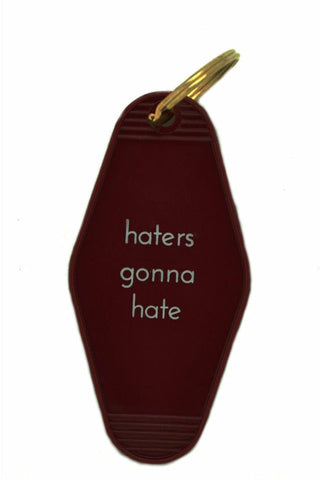 Key Fob Maroon - Haters Gonna Hate