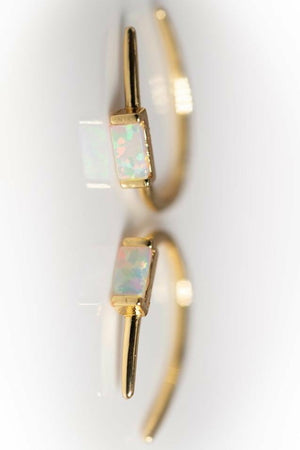 Leslie Francesca Opal Bar Hook Earring