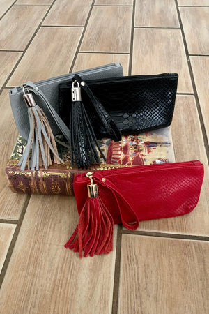 Rachel Querouil Leather Small Wristlet