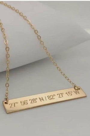 Los Gatos Coordinates Bar Necklace
