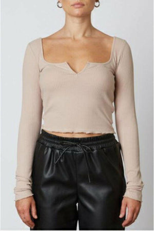 NIA Notched Ribbed Top