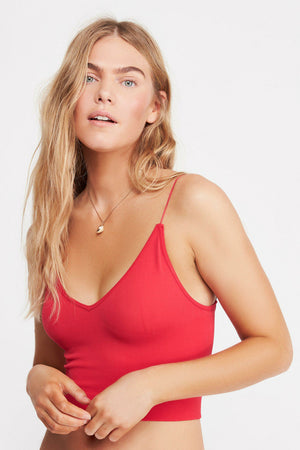 Free People Ribbed V Neck Brami