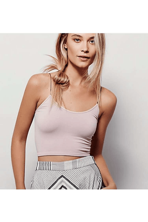 Free People Seamless Skinny Strap Crop Cami
