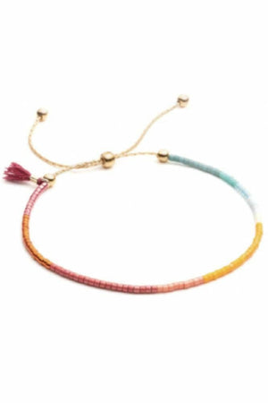 Shashi Sam Bracelet in Wine