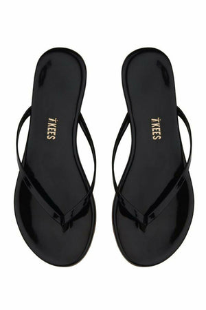 Tkees Leather Flip Flops Glosses - Licorice