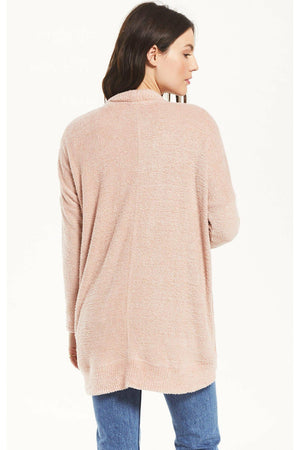 Z Supply Kaye Feather Cardigan - Silver Pink
