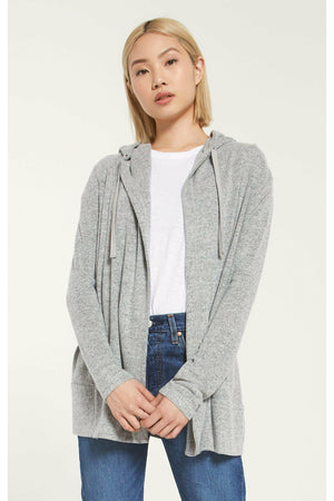 Z Supply Clay Marled Cardigan - Heather Grey