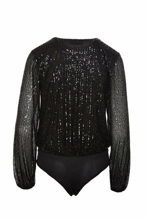 Sage The Label Dancing In The Night Sequin Bodysuit
