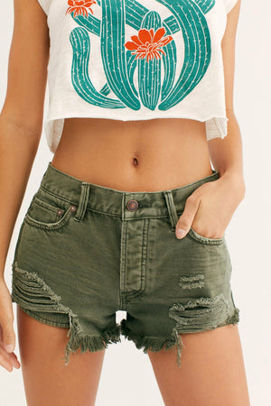 Free People Loving Good Vibrations Cutoff Short