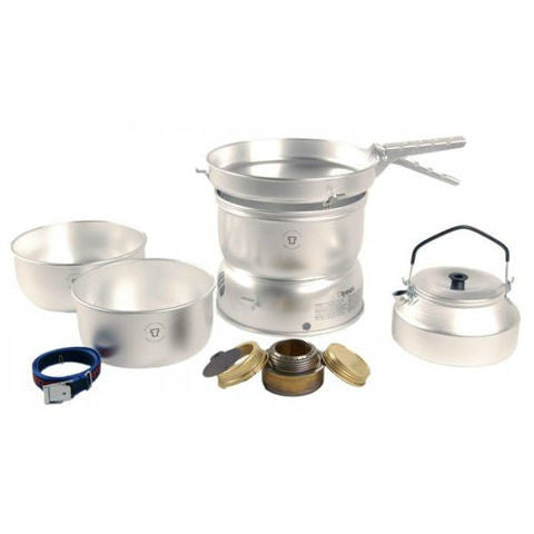 2 person cookset in ultralight aluminum with kettle