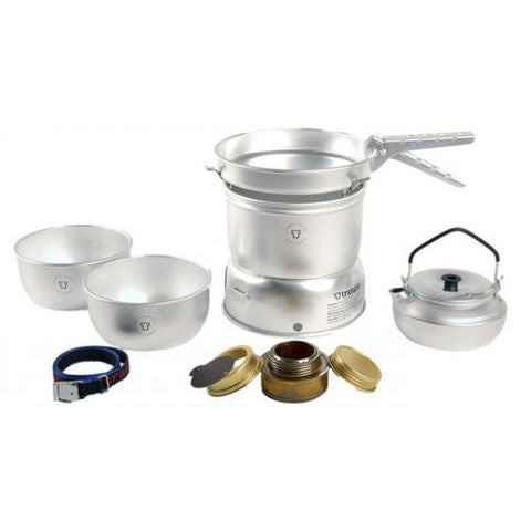 2 person cookset in hardanodized aluminum with kettle