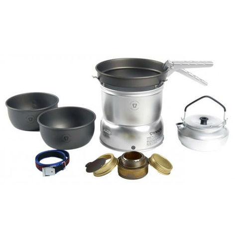 2 person cookset in ultralight aluminum and hardanodized aluminum