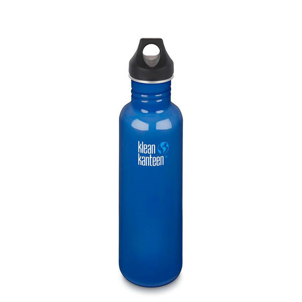27 ounce Klean Kanteen classic bottle in blue planet