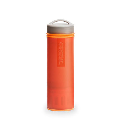 grayl ultralight water filter in orange