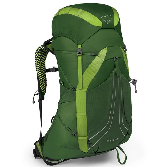 Osprey Exos 48L pack in green