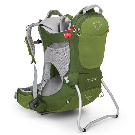 Osprey Poco AG child carrier in lime green
