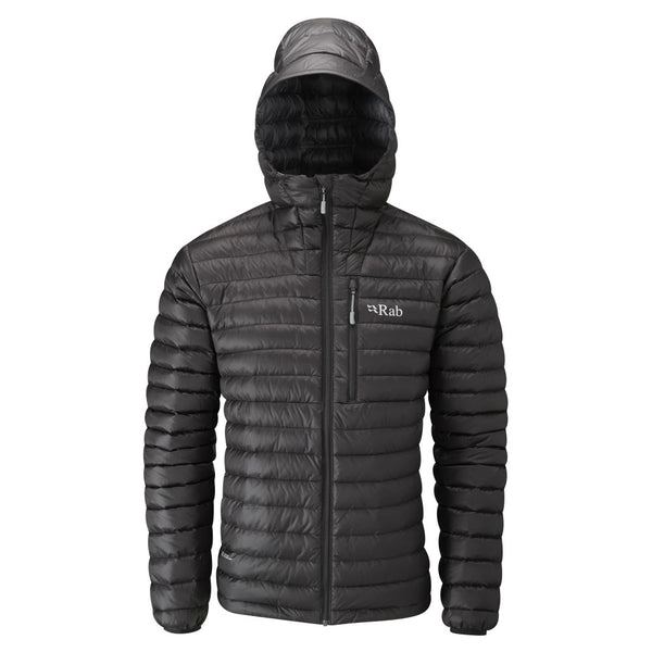 Rab microlight alpine goose down jacket in black