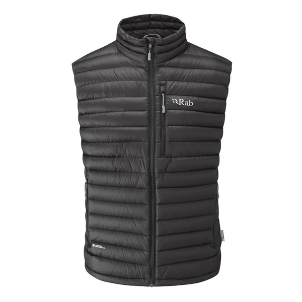 Rab microlight goose down vest in black