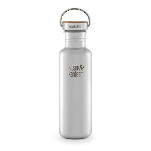 27oz stainless steel bottle with bamboo cap