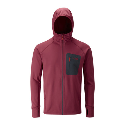 Rab Superflux hoodie in rococco colour