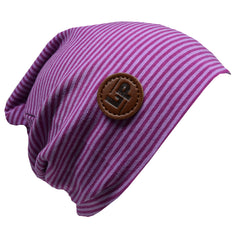 Tuque Boston en coton (V19 Mauve et Rose) | Boston cotton beanie (V19 Purple and Pink)