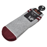 Bas (Gris Mixte - Bourgogne Stripes 1.0) | Socks (Heather Gray - Burgundy Stripes 1.0)