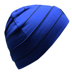 Tuque Boston en coton (V20 Bleu Royal & Noir) | Boston cotton beanie (V20 Royal Blue & Black)