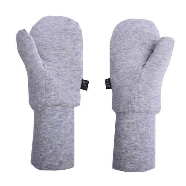Mitaines de coton mi-saison (Gris Mixte) | Mid-season cotton mitts (Heather Gray)