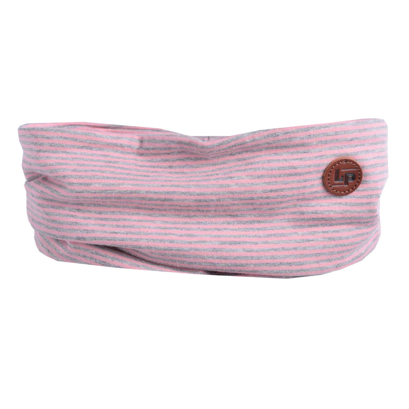 Foulard en coton (Rayé Rose + Gris) | Cotton scarf (Pink + Gray Striped)