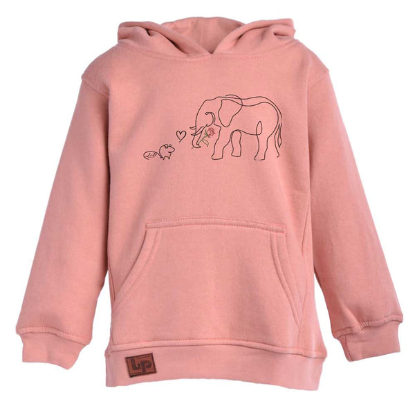 Chandail molleton à capuchon (Élémouse Love)  | Fleece hoodie (Élémouse Love)