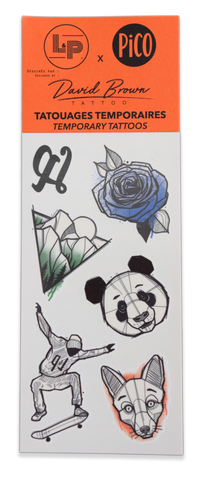 TATOUAGES TEMPORAIRES L&P X DAVID BROWN x PICO | TEMPORARY TATTOOS LP X DAVID BROWN x PICO